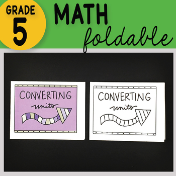 Math Doodle - Converting Units - Math INB Foldable Notes