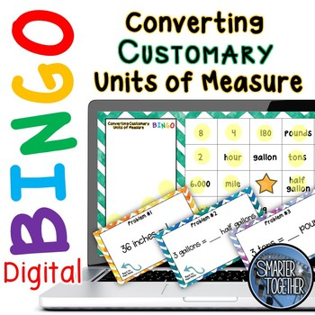 Converting Units of Measure - Customary - Digital Bingo