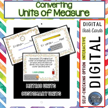 Converting Units of Measure Digital Task Cards for Google