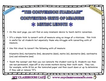 """Converting Units of Measure (Length) Mnemonic device """"mm"""" to """"km"""" (ENG)"""