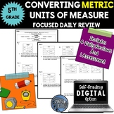 Converting Units of Measure - Metric - Focused Daily Review - Bell Work