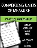 Converting Units of Measure - Practice Worksheets BUNDLE