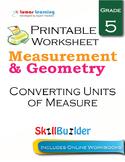 Converting Units of Measure Printable Worksheet, Grade 5