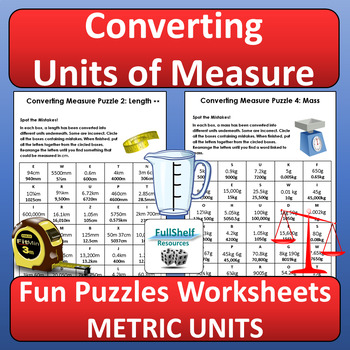 Converting Units Of Measurement Worksheets Puzzles Metric Tpt