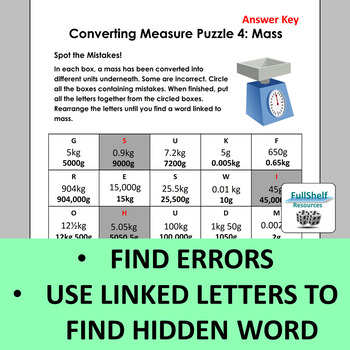 Converting Units of Measurement Worksheets (Puzzles) METRIC | TpT