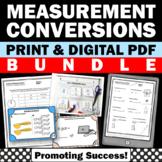 Converting Units of Measurement Activities BUNDLE Task Cards Worksheets Digital