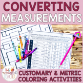 Converting Units of Measurement Coloring Activities