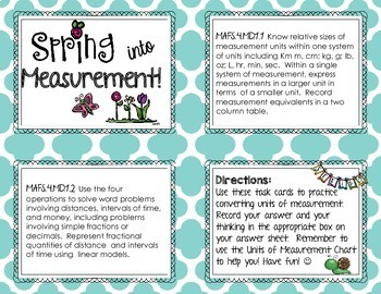 Converting Units of Measurement Task Cards {Spring into Measurement!}