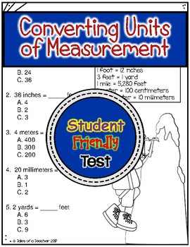 Converting Units of Measurement Test