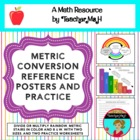 Converting Units of Metric Measurement Posters and Practice