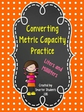 Converting Units of Metric Capacity Practice
