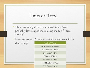 Converting Units of Time: Presentation