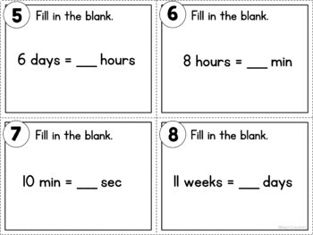 Converting Units of Time Task Cards