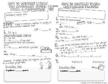Converting Within Customary System of Measurement - Doodle Note Brochure for INB