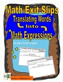 Converting Word Problems into Math Expressions