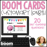 Converting Units of Measure: Customary Length Digital Boom Cards
