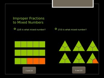 Converting and Comparing Mixed Numbers PowerPoint