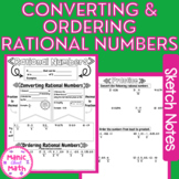 Converting and Ordering Rational Numbers  Sketch Notes