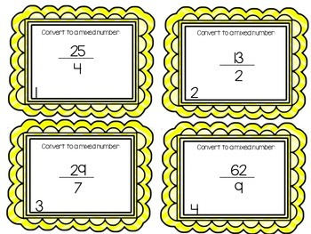 Converting and Simplifying Fractions - Task Cards