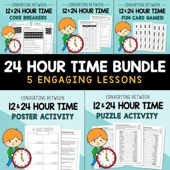 Converting between 12 & 24 Hour Time BUNDLE