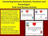 Converting between Decimals, Fractions and Percentages - T