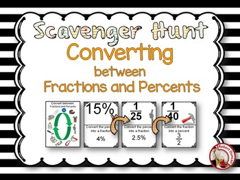 Converting between Fractions and Percents Scavenger Hunt