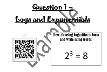 Converting between Logarithmic and Exponential Form with QR Codes