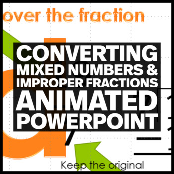 Converting between Mixed Numbers and Improper Fractions Animated PowerPoint