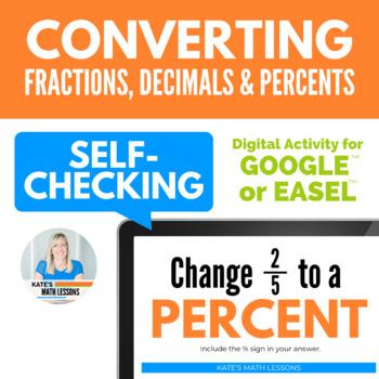 Converting between Percents, Decimals, and Fractions Activity for Google Drive