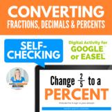 Converting Percents, Decimals, and Fractions Digital Activ