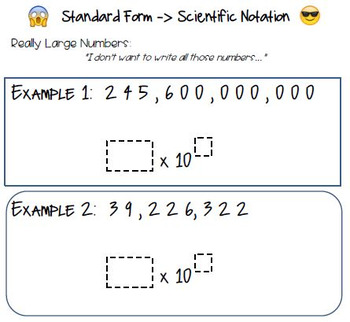 Converting between Scientific Notation and Standard Form