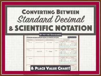 Converting between Standard Decimal and Scientific Notation 8.2C