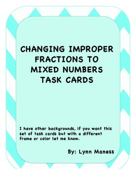 Converting between improper fractions and mixed numbers STAAR review