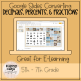 Converting decimals, percents, and fractions interactive g