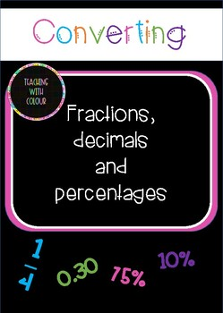 Converting fractions, decimals and percentages- matching game