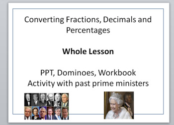 Converting fractions, decimals, percentages and probability