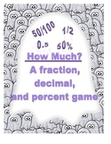 Halloween- Converting fractions, decimals, percents game