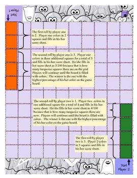 Halloween- Converting fractions, decimals, percents game