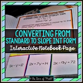 Converting from Standard Form to Slope Intercept Form Fold