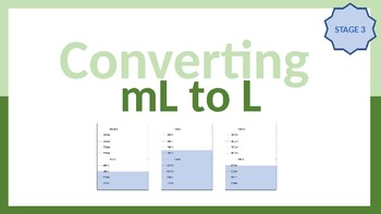 Converting mL to L - Stage 3