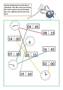 Converting time - analog, 12 and 24h clock