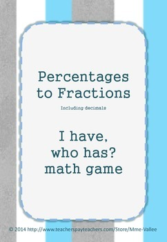 Converting % to fractions (including decimals) : I Have Wh