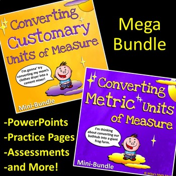 Converting Customary and Metric Units of Measure (Mega Bundle)
