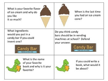 Conversation Cards---Assorted Topics---Requires Reading