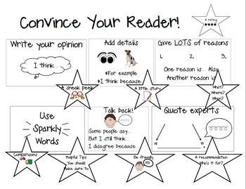 Convince Your Reader! Chart and Opinion Writing Goals Tool