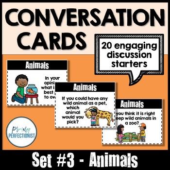 Convo Cards Set #3 - Animals   ::Topics for Discussions & Oral Language Skills::