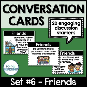 Convo Cards Set #6 - Friends  ::Topics for Discussions & Oral Language Skills::