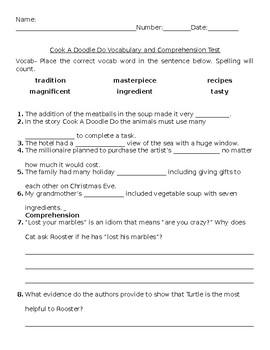 Cook-A-Doodle-Do Reading Comprehension Test