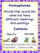 "Homophones and Homonyms -""Cook-A-Doodle-Doo"""