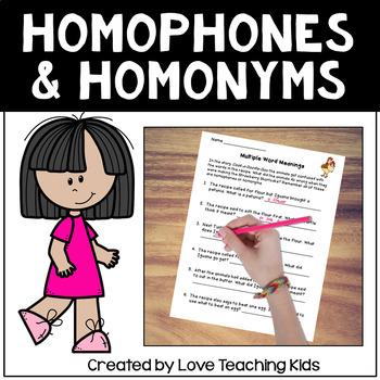 "Homophones and Homonyms -""Cook-A-Doodle-Doo"""